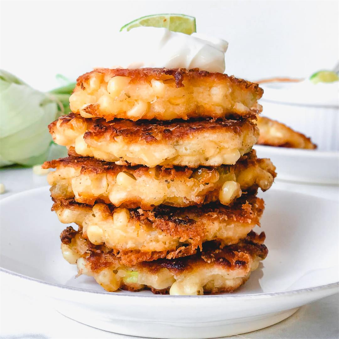 Spicy Sweet Corn Fritters