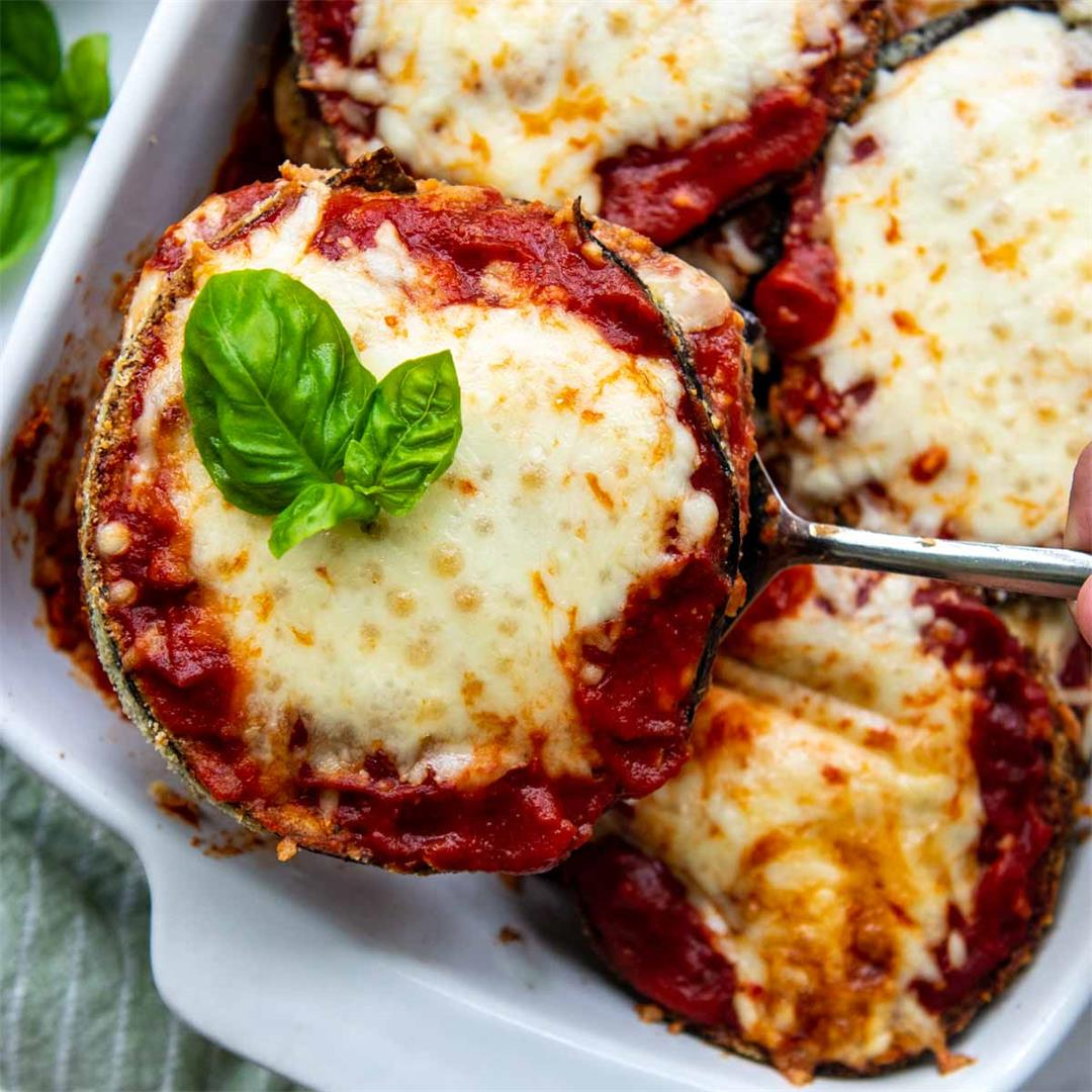 Low Carb & Gluten-Free Eggplant Parmesan