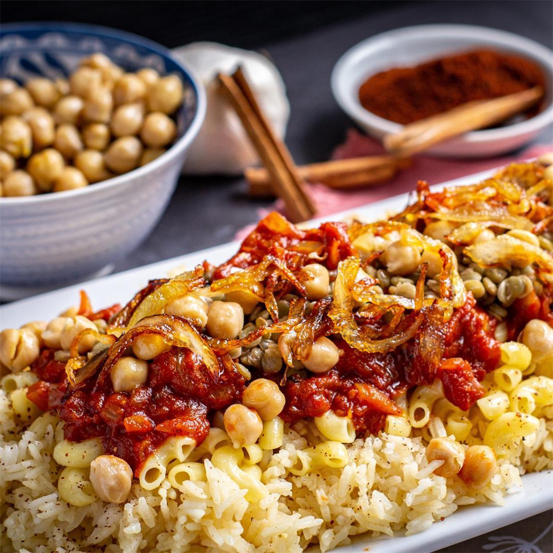 Koshari (the National Dish of Egypt)