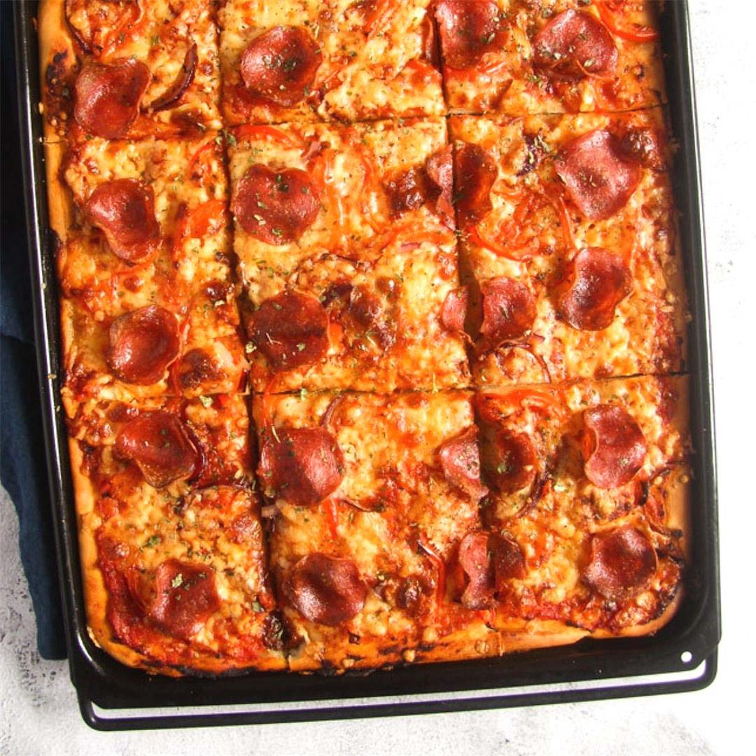 Quick Sheet Pan Pizza (with 3 Topping Ideas)