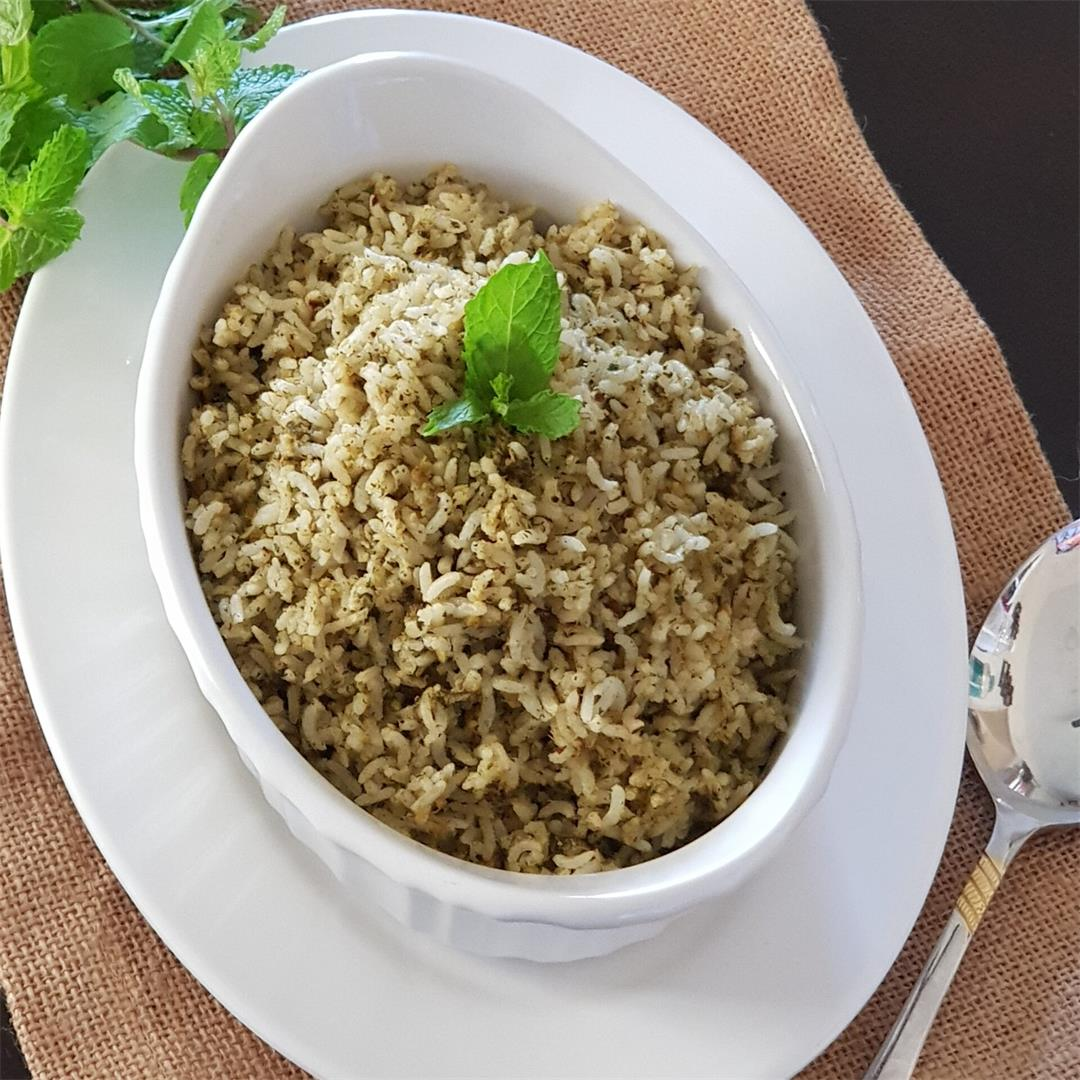 Pudina/ Mint Rice/ How To Make Easy Mint Rice