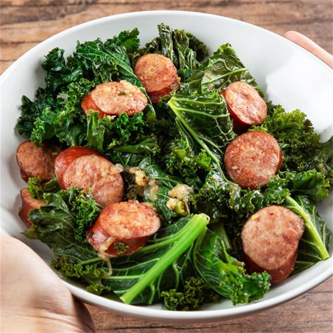 Instant Pot Kale & Sausage