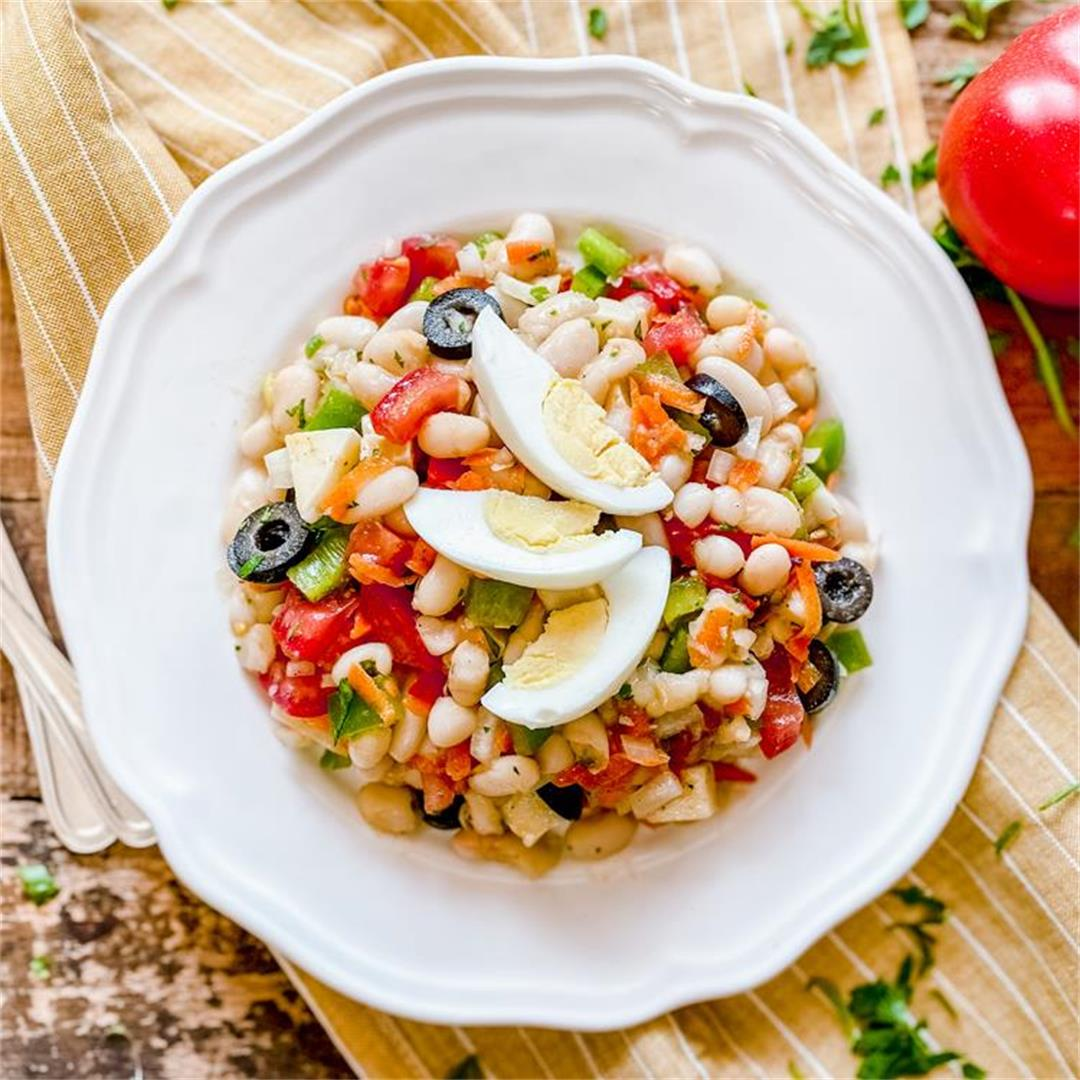 Classic Spanish White Bean Salad
