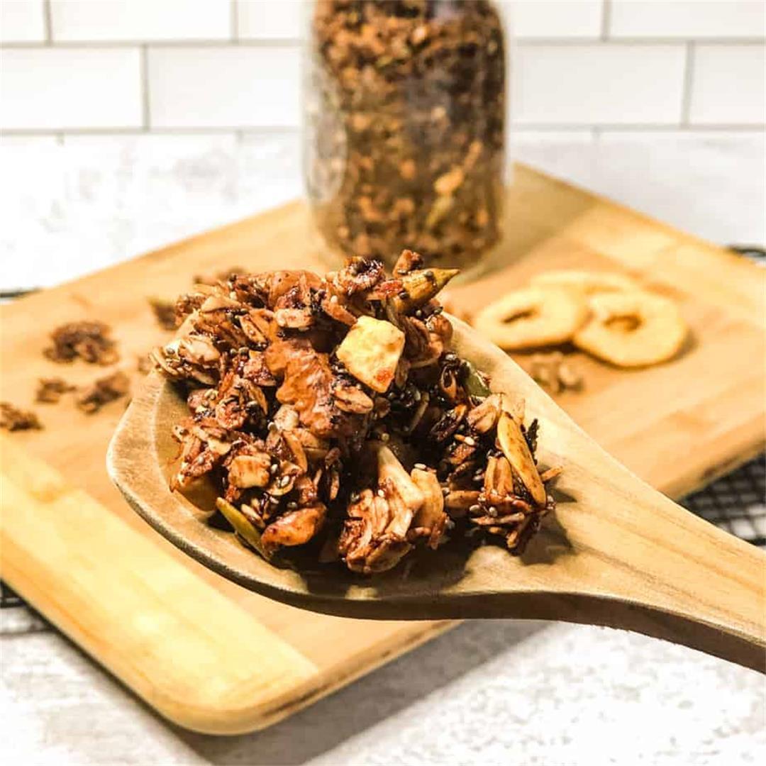Walnut Cinnamon Apple Granola