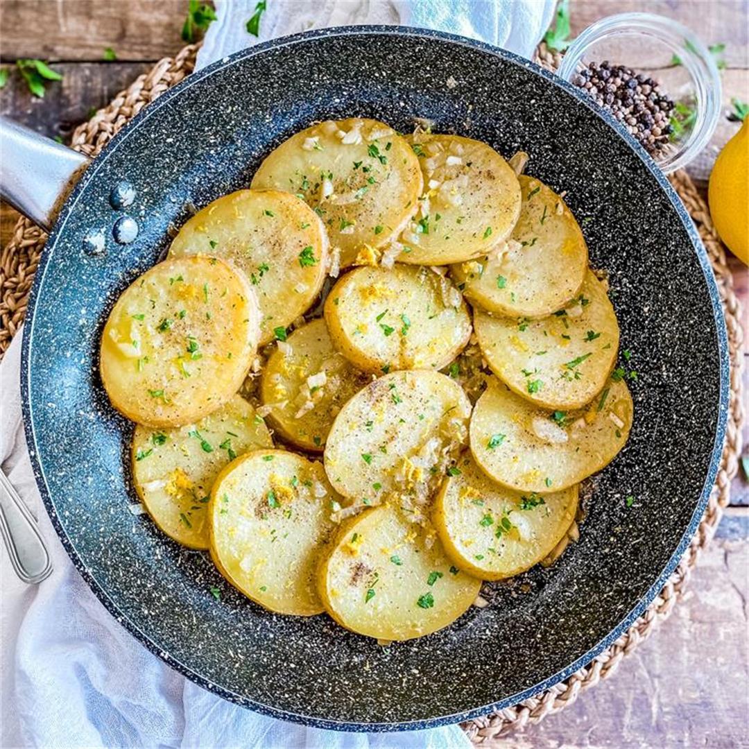 Spanish Lemon-Pepper Skillet Potatoes