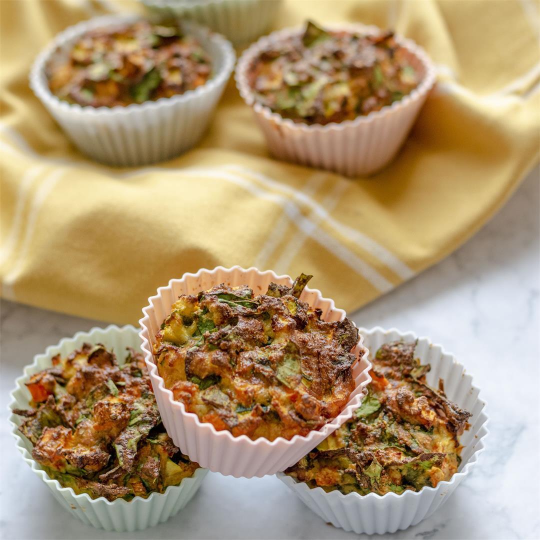 Healthy savory veggie muffins