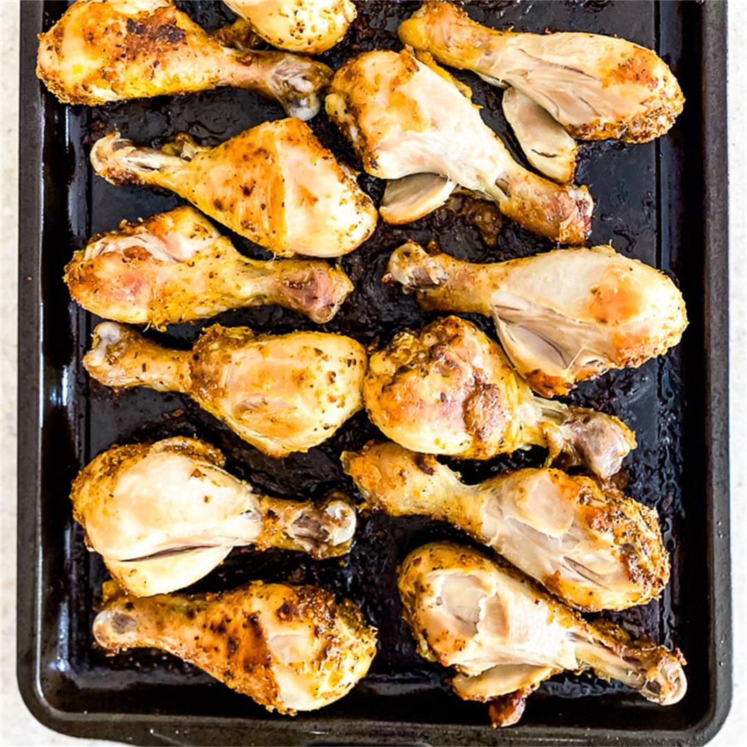 Seasoned, Marinated Roasted Chicken Drumsticks
