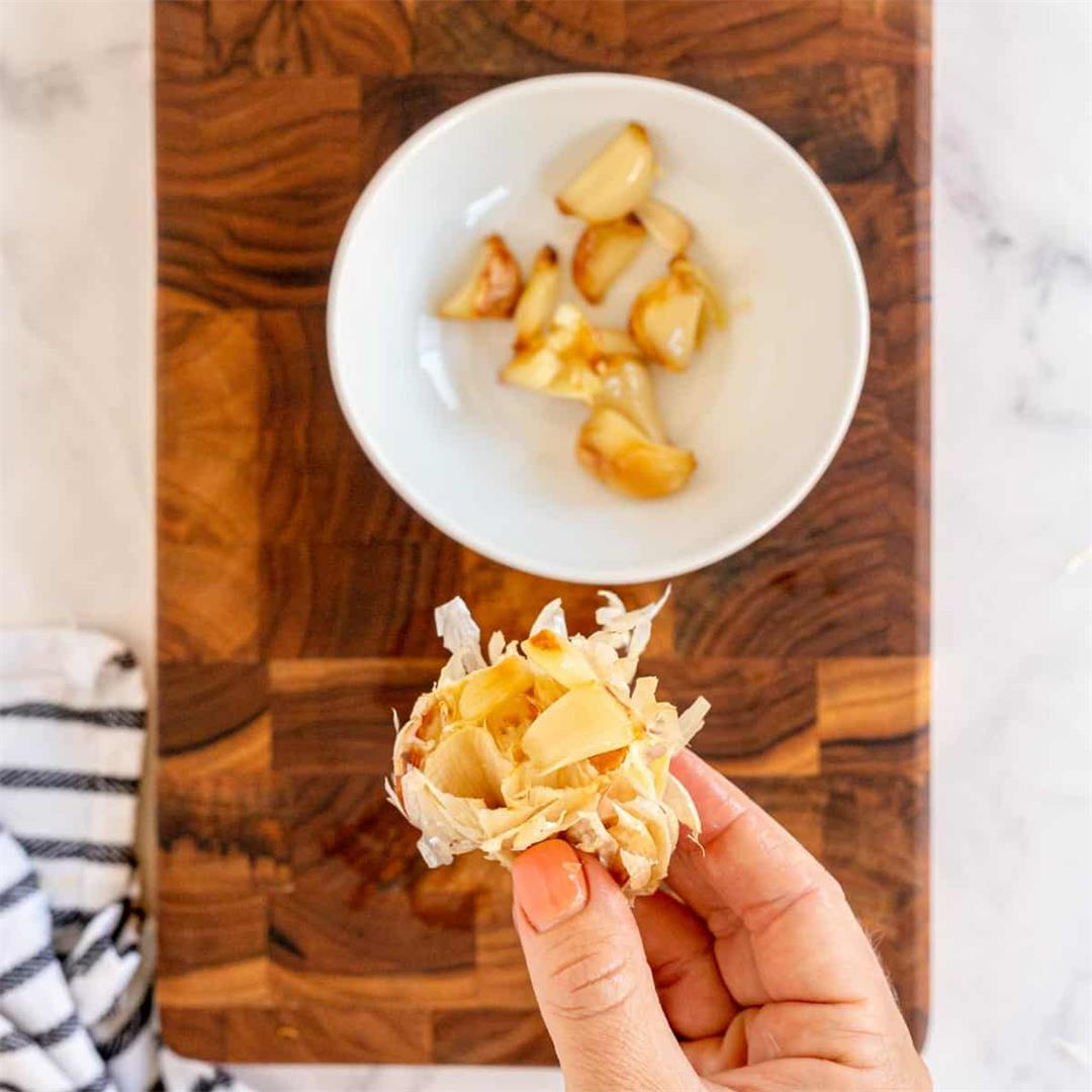 How to Roast Garlic (plus how to store & use)