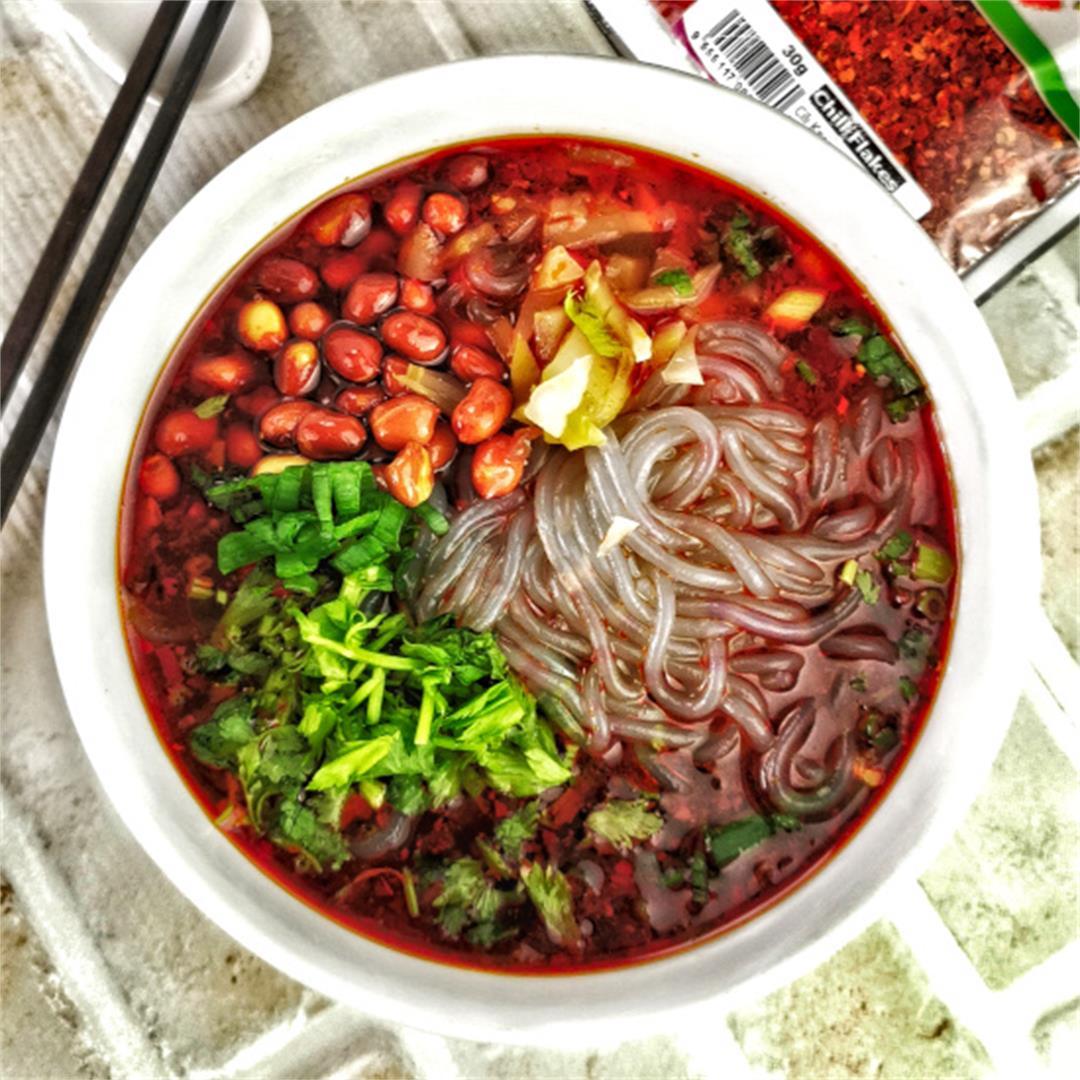 Suan la fen (酸辣粉)- How to make Szechuan hot and sour noodles