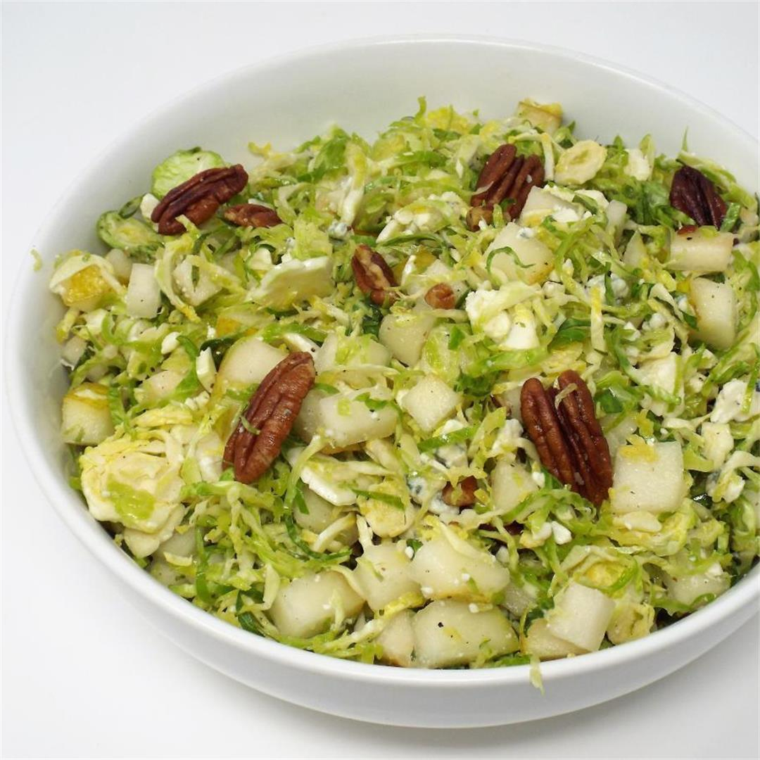 Brussels Sprouts and Pear Salad