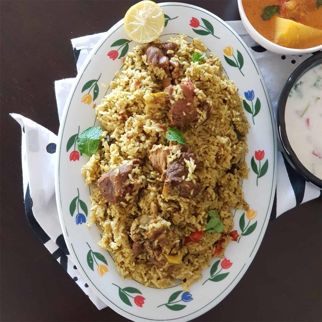 Hariyali Mutton Biriyani/ How To Make Mutton Biriyani