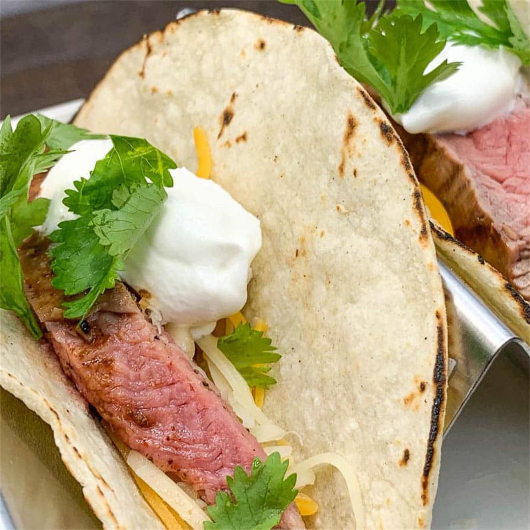 Dr. Pepper Flank Steak Tacos