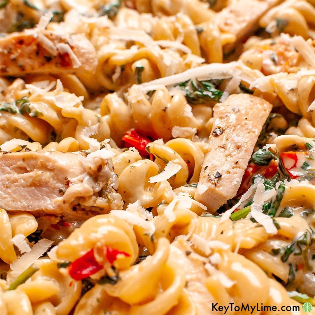 BEST Creamy Tuscan Chicken Pasta Recipe