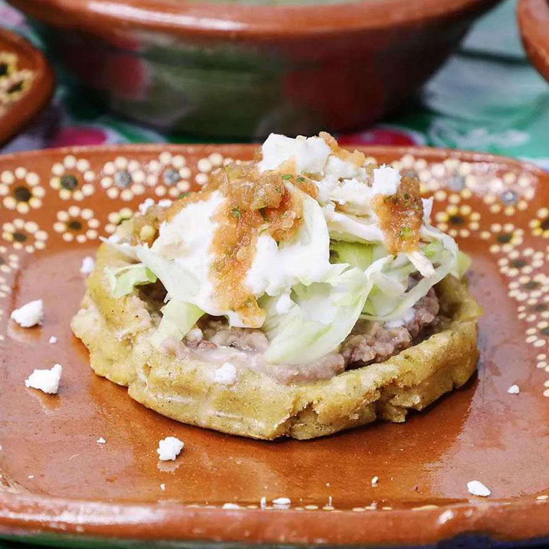 Mexican Sopes with Chicken