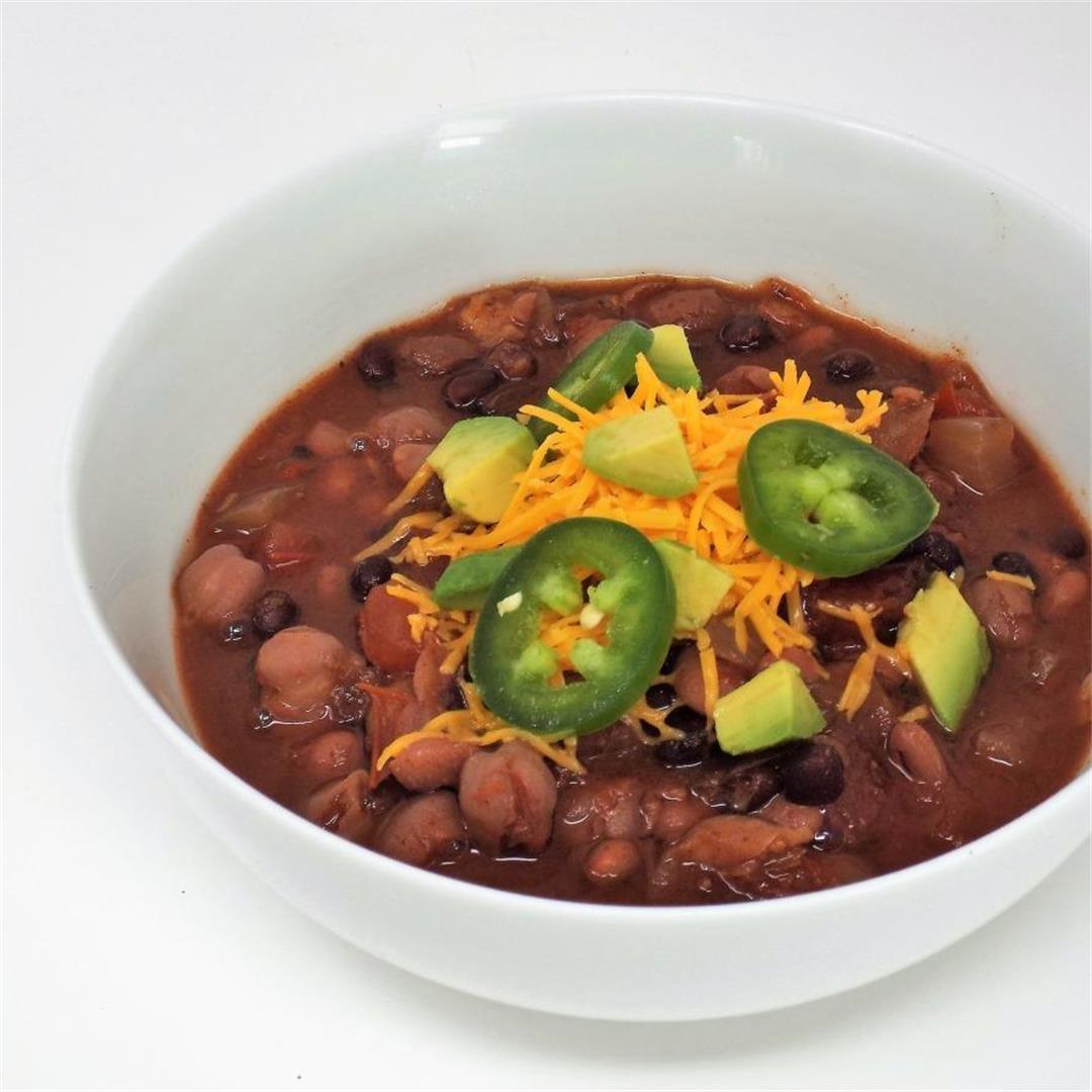 Three Bean Slow Cooker Chili