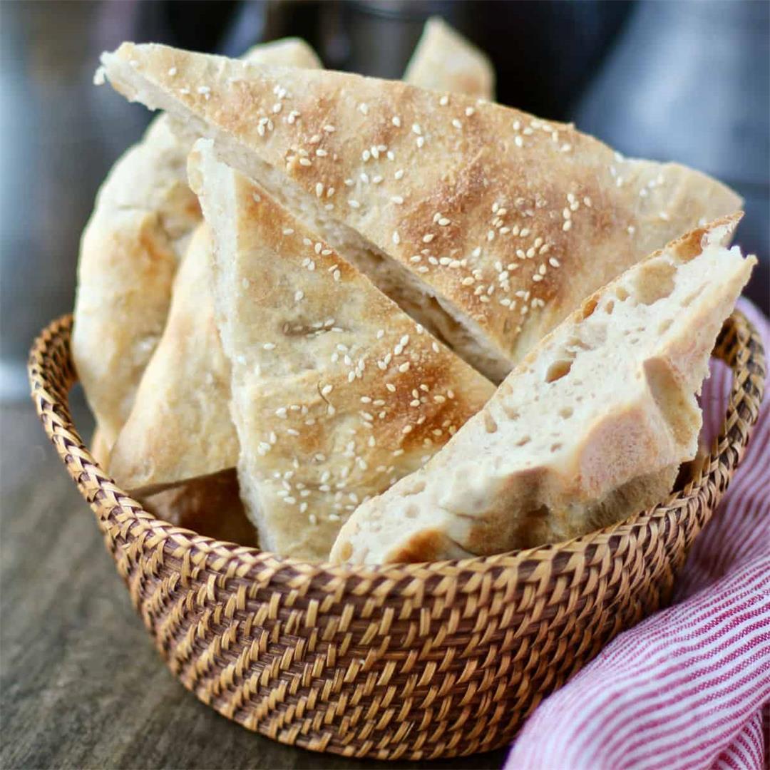 Naan Sangak (Persian Pebble Bread)