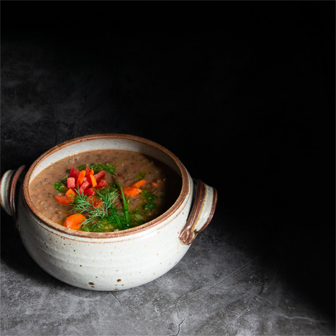 Lentil and Bean Stew With Gremolata