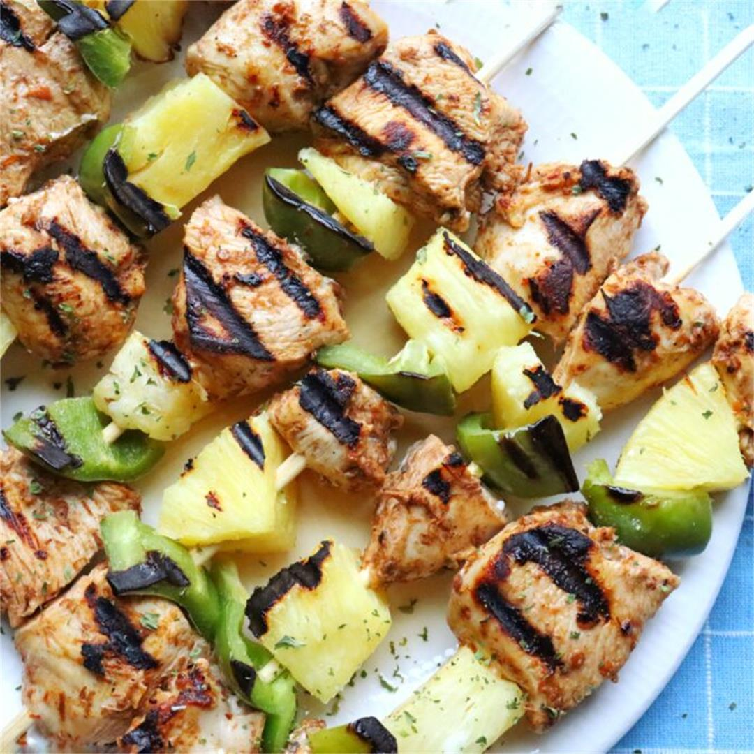 Sweet and Spicy Chicken Kebabs