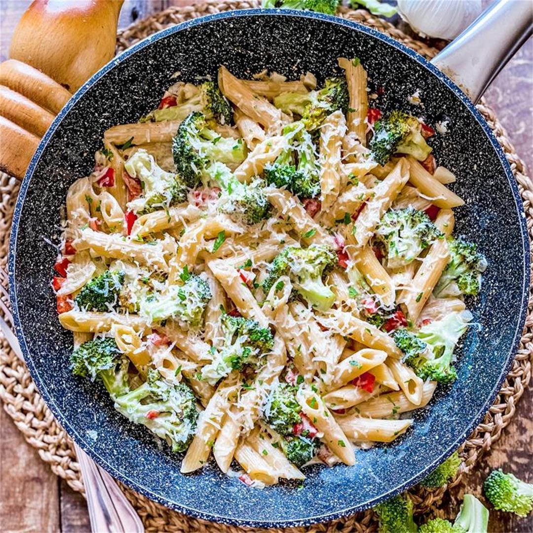 One-Pan Creamy Broccoli Pasta   Healthy & Delicious Recipe