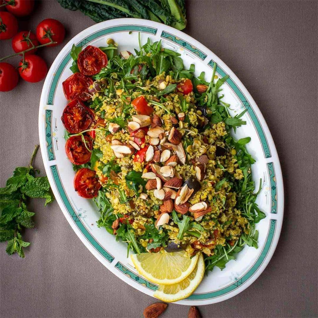 Couscous Warm Salad • Salads • Our Plant-Based World