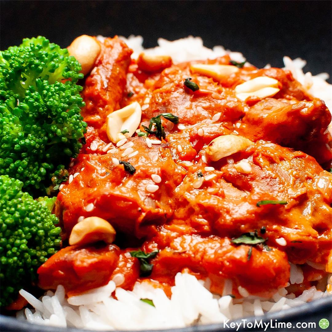 20-Minute Peanut Butter Chicken {EASY and TASTY}