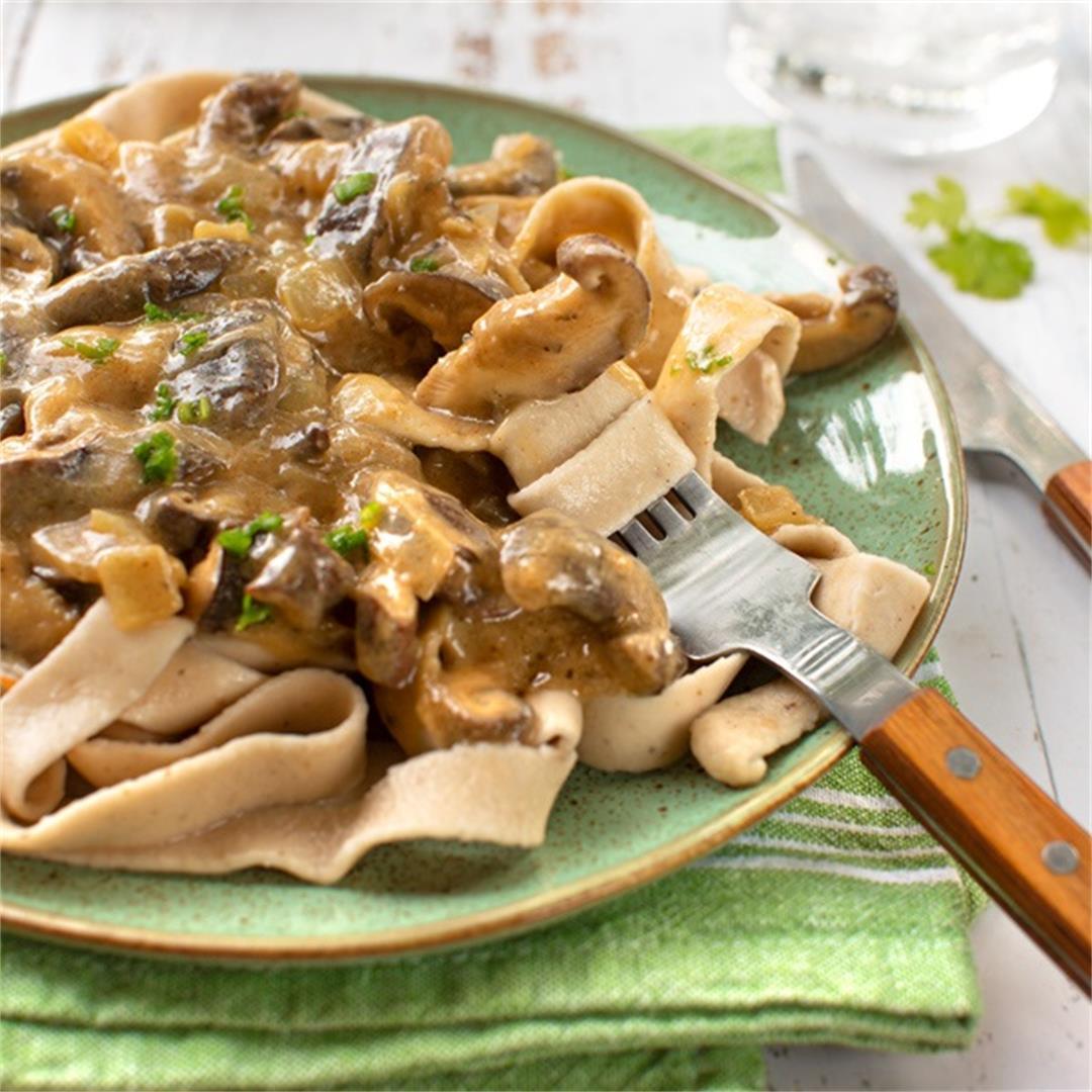 Shiitake Mushroom Stroganoff