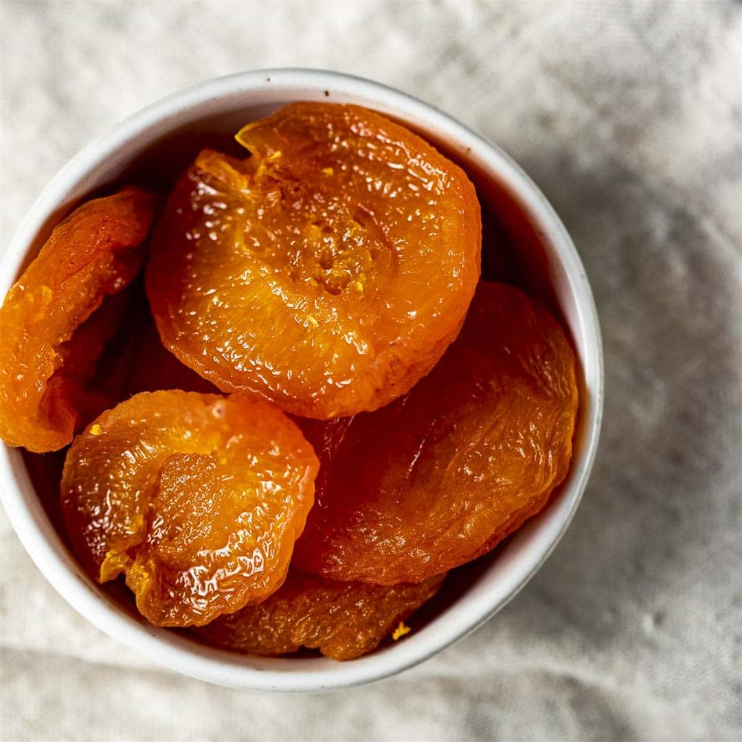 Air Fryer Dehydrated Apricots