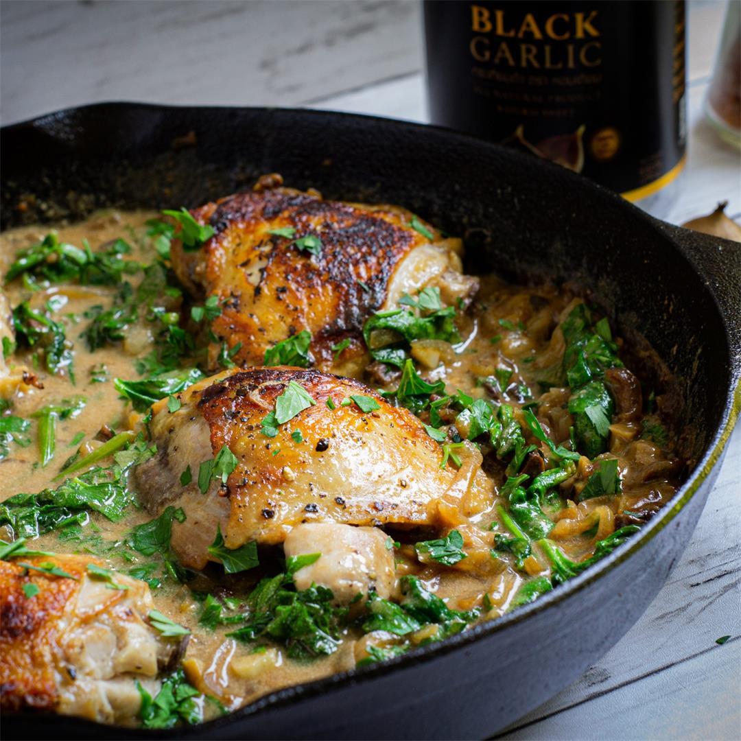 Creamy Black Garlic Chicken