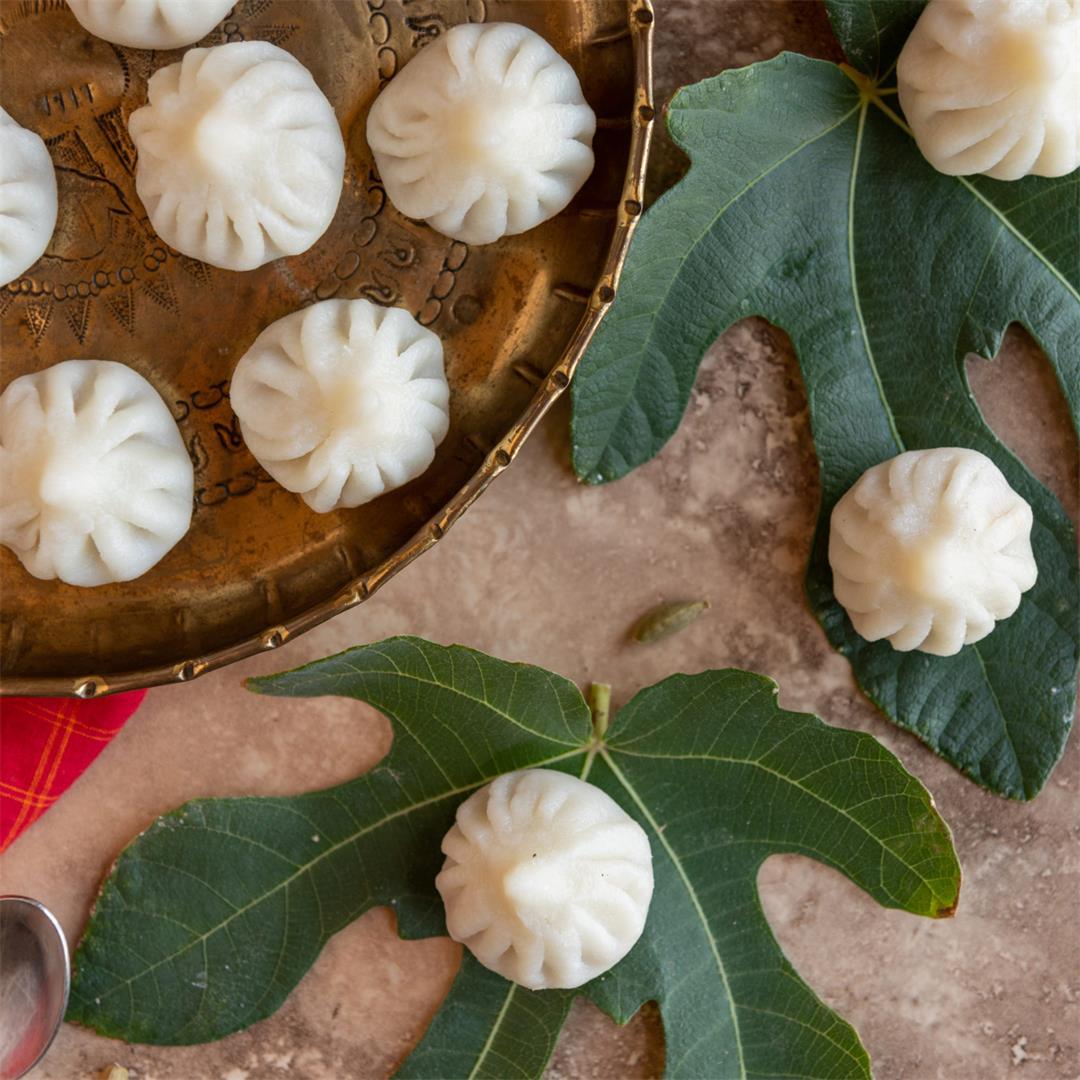 Ukdiche Modak (Steamed Sweet Coconut Dumplings)