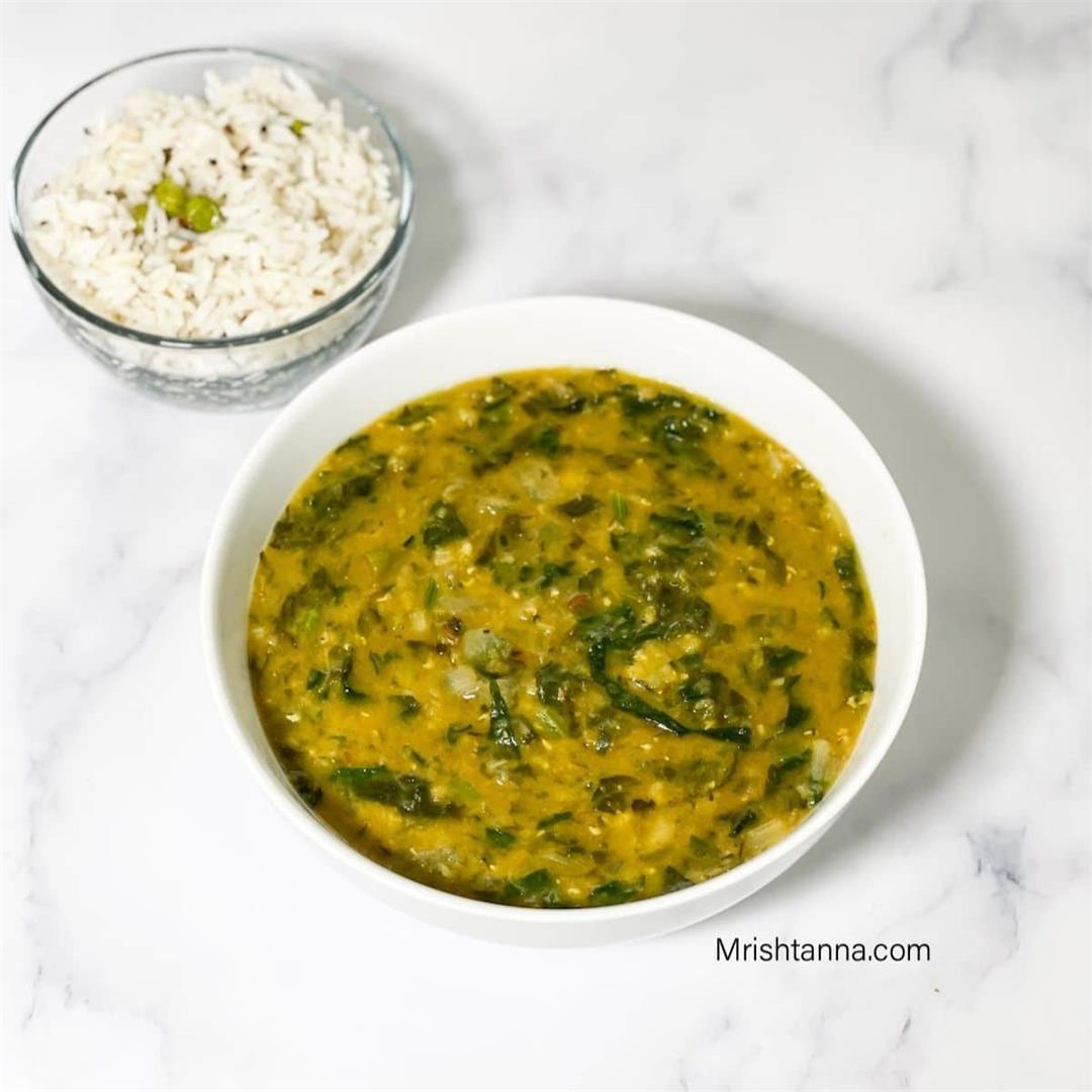 Palak Dal Recipe (Instant Pot)
