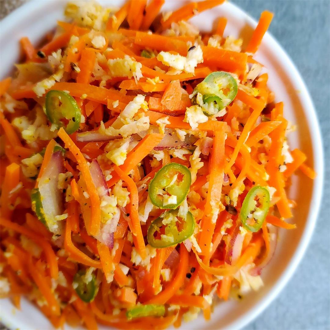Sri Lankan Carrot Salad/Sambola