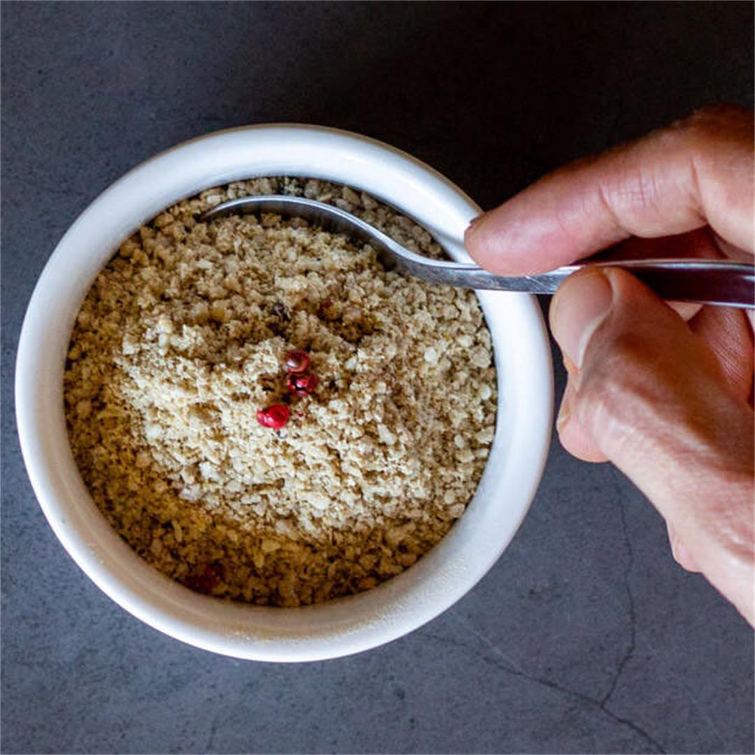 Vegan Parmesan Cheese Recipe with sunflower seeds