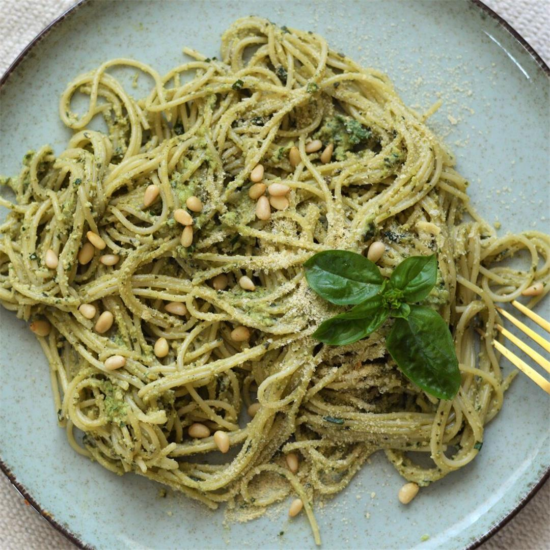 Basil Cashew Pesto Pasta