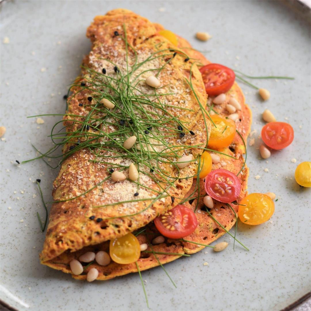 Chickpea Omelette with Chives