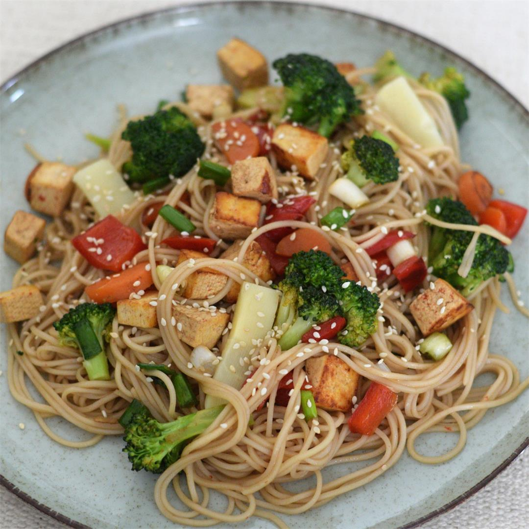 Tofu Veggie Noodles