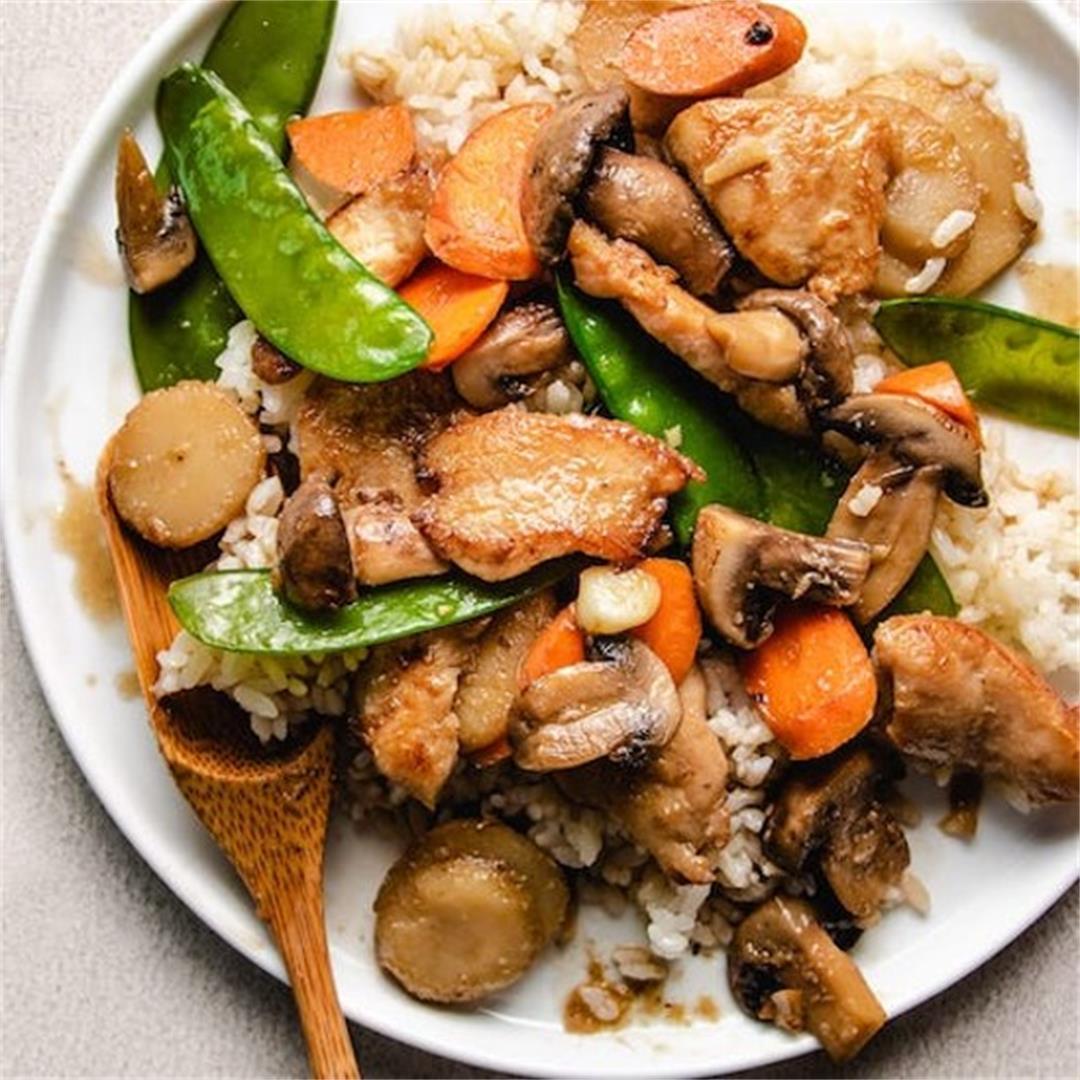 Moo Goo Gai Pan (gluten-free, one pot meal!)