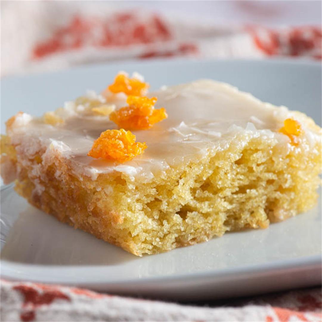 Orange Buttermilk Sheet Cake