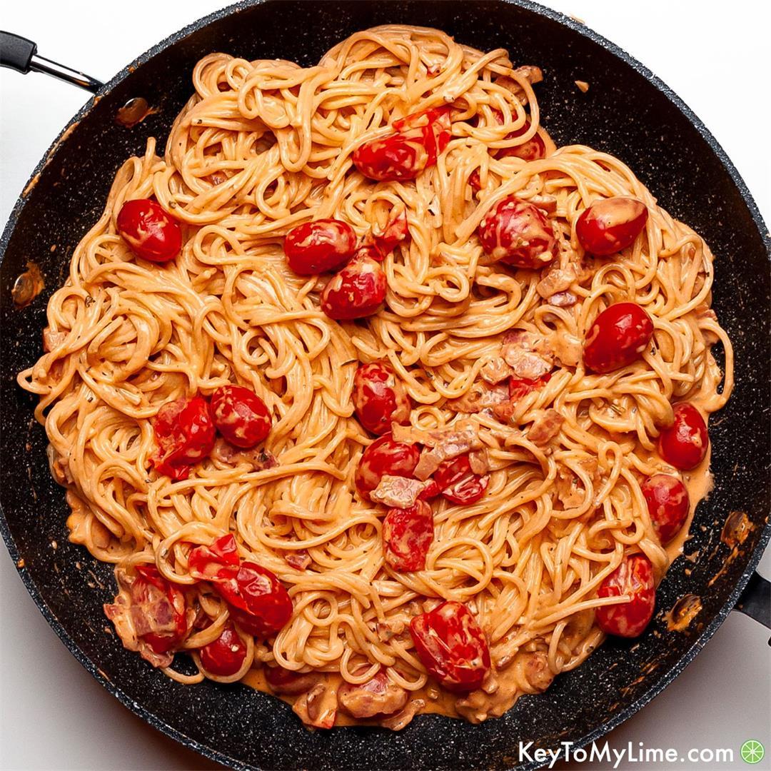 Creamy Bacon Pasta {BEST Pasta with Bacon Recipe!}