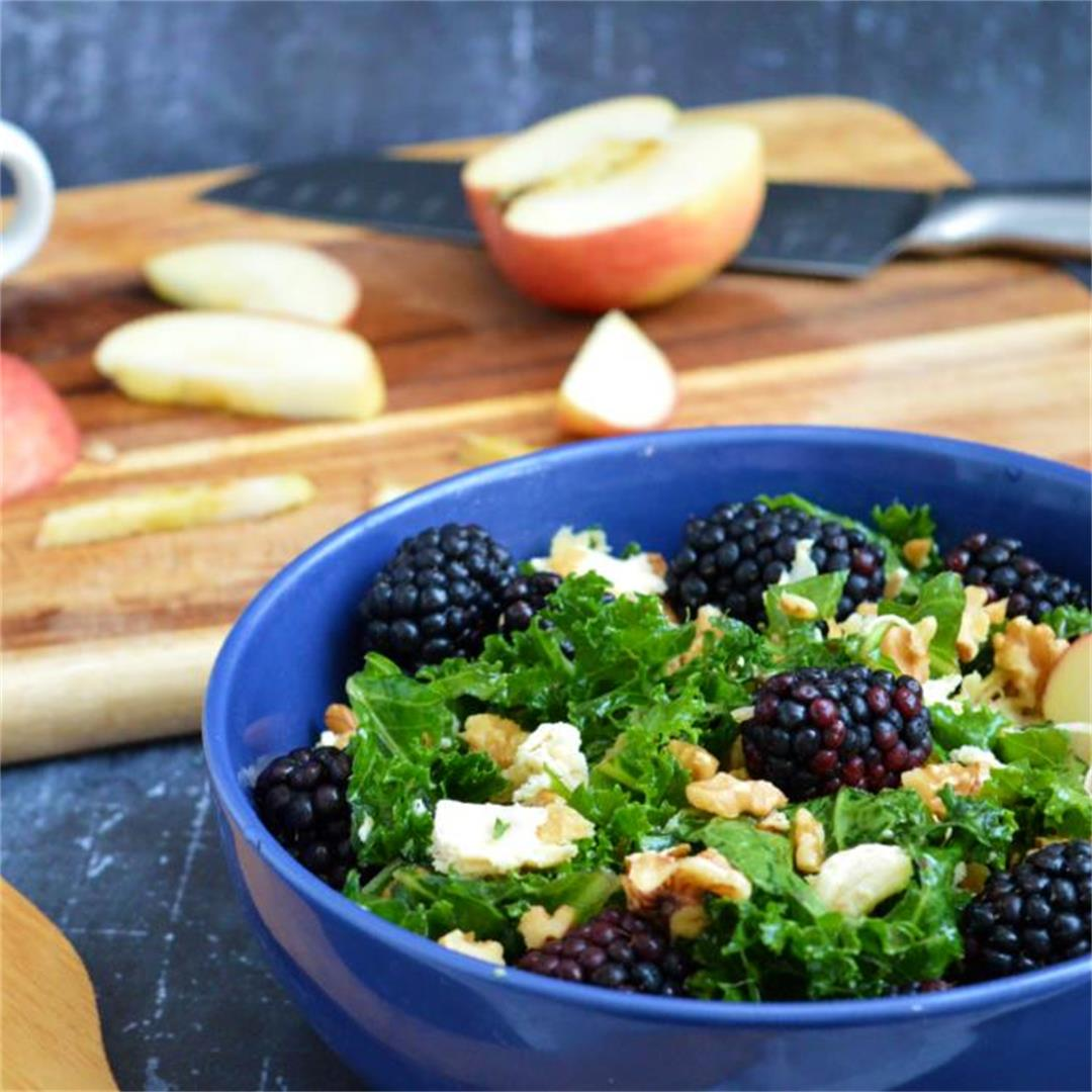 Blackberry Kale Salad with Chicken — Tasty Food for Busy Mums