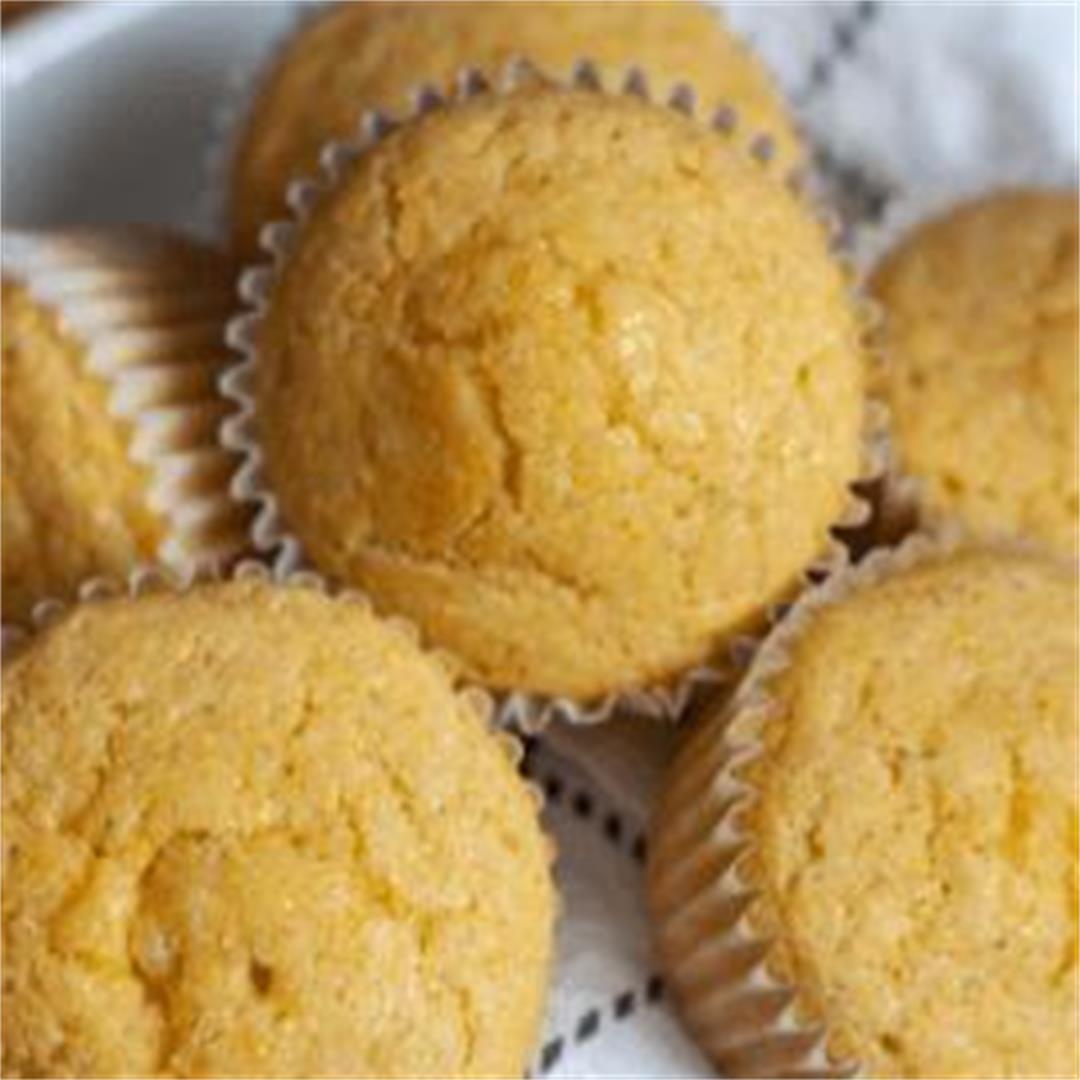 Easy Vegan Cornbread Muffins