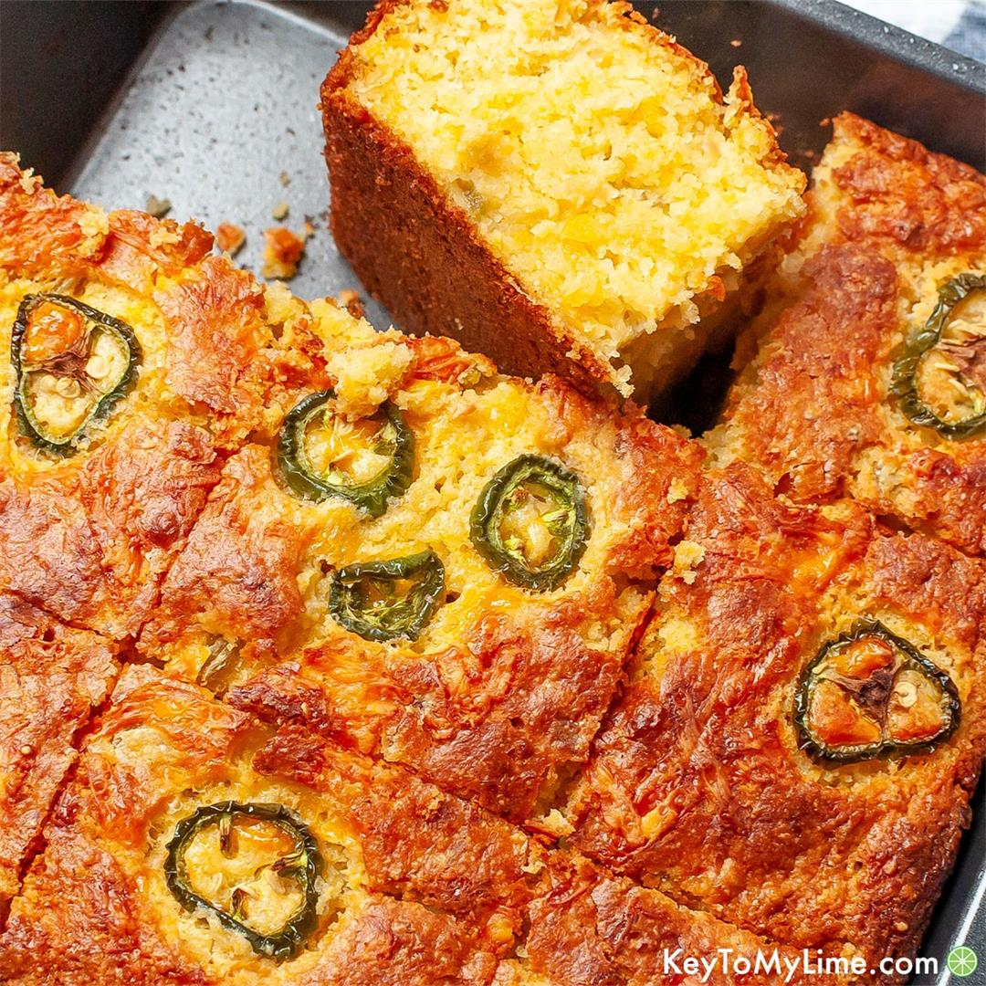 EASY Mexican Cornbread {with Jiffy Corn Muffin Mix}