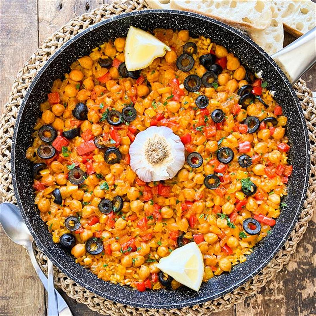 Spanish Baked Rice with Vegetables