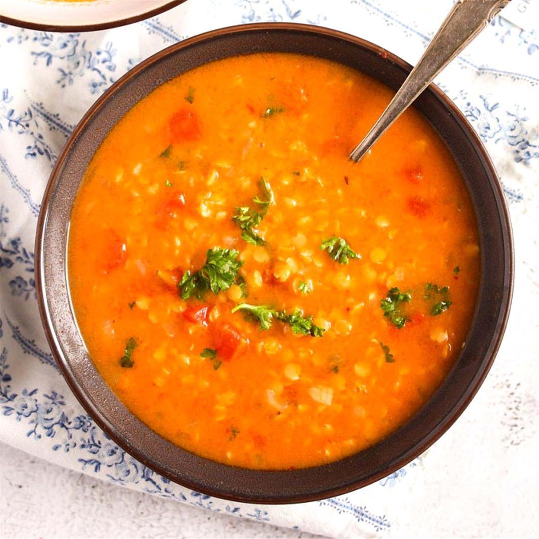 Easy Lebanese Lentil Soup