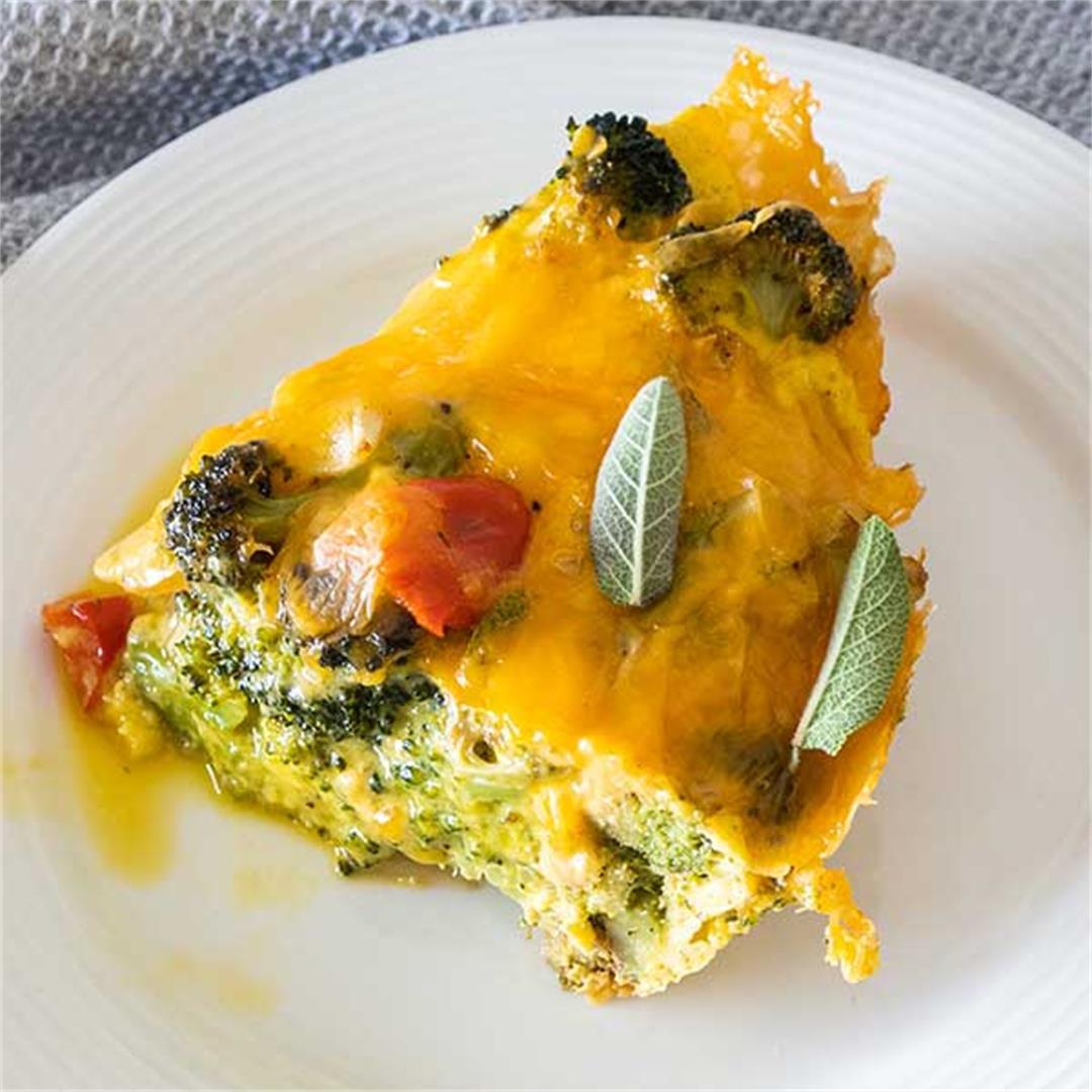 Gluten-Free Broccoli Cheddar Pie