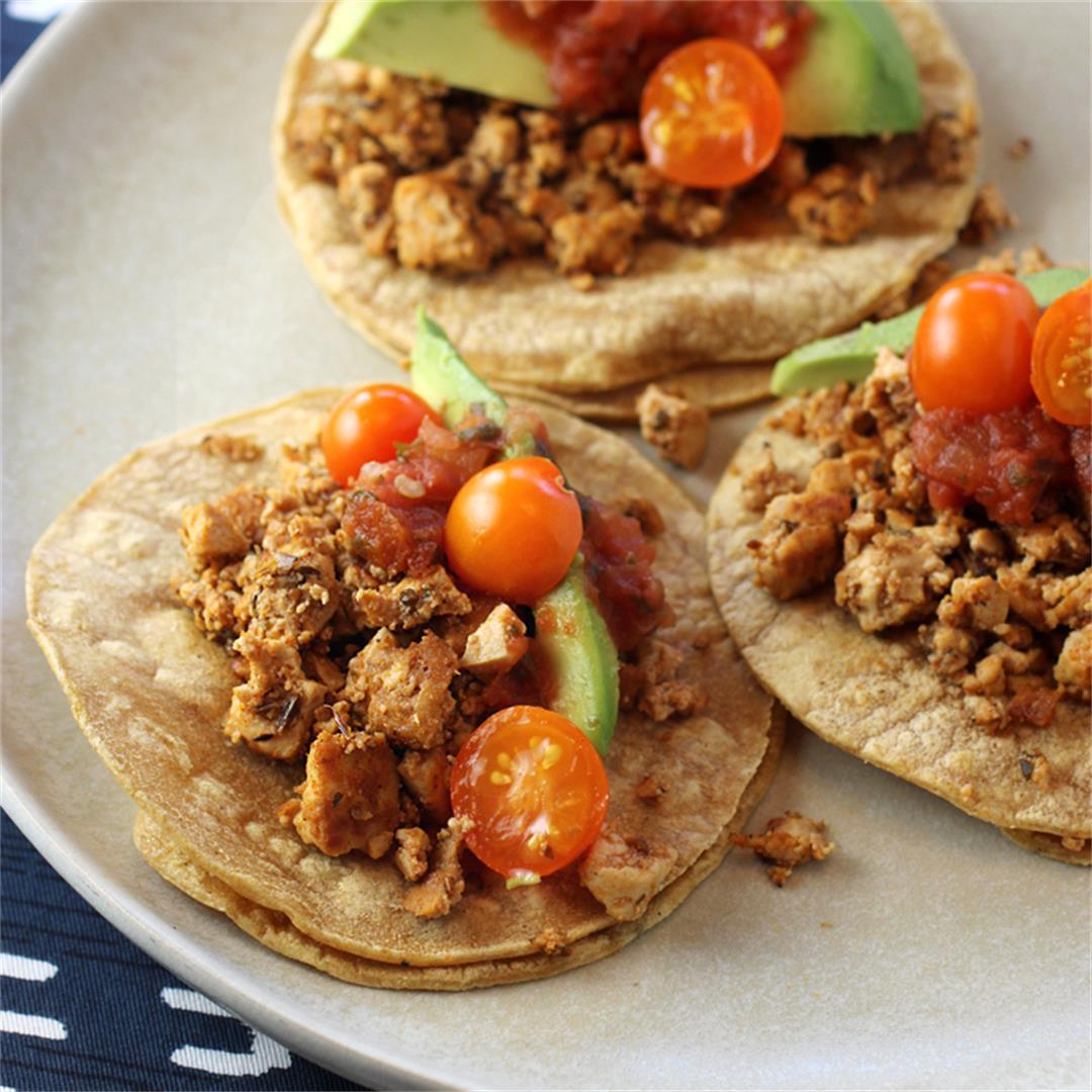 Mexican Adobo Tofu Tacos