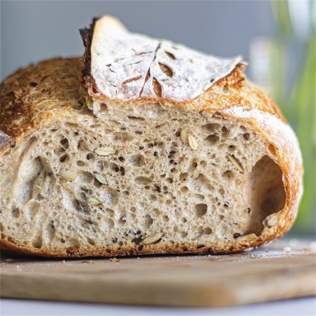 Seeded Sourdough Bread (Big Batch) – Maya's Kitchen Daydreams