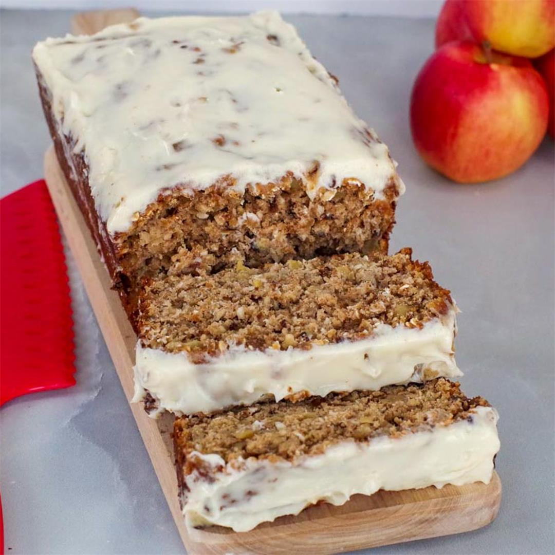 Apple Bread (with brown butter glaze)