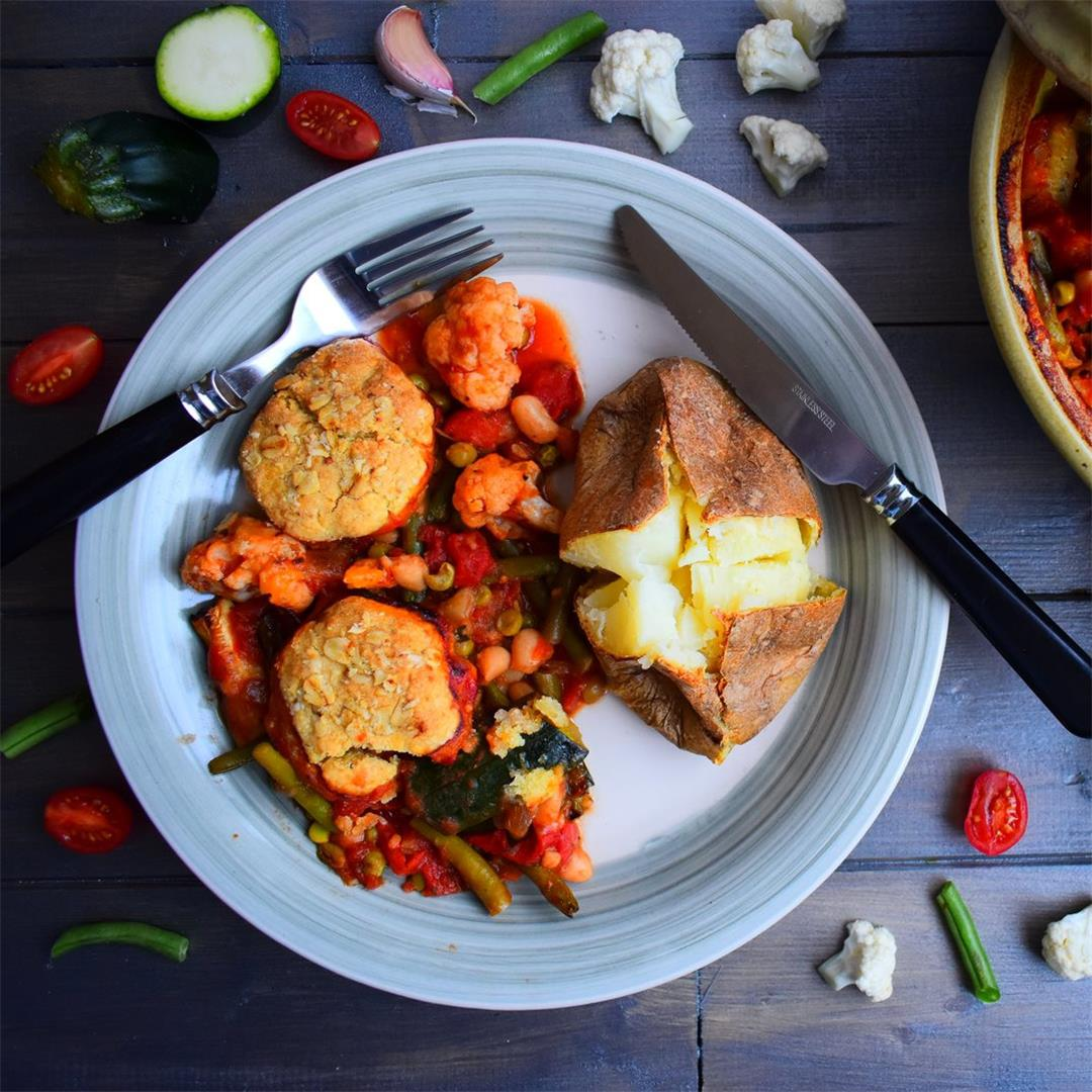 Bean and Vegetable Hotpot with Cheese Dumplings