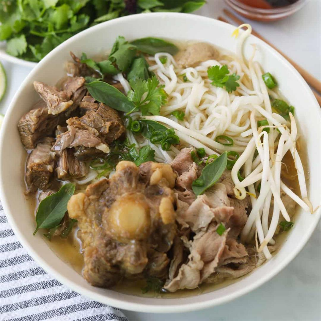 Instant Pot Oxtail Beef Pho