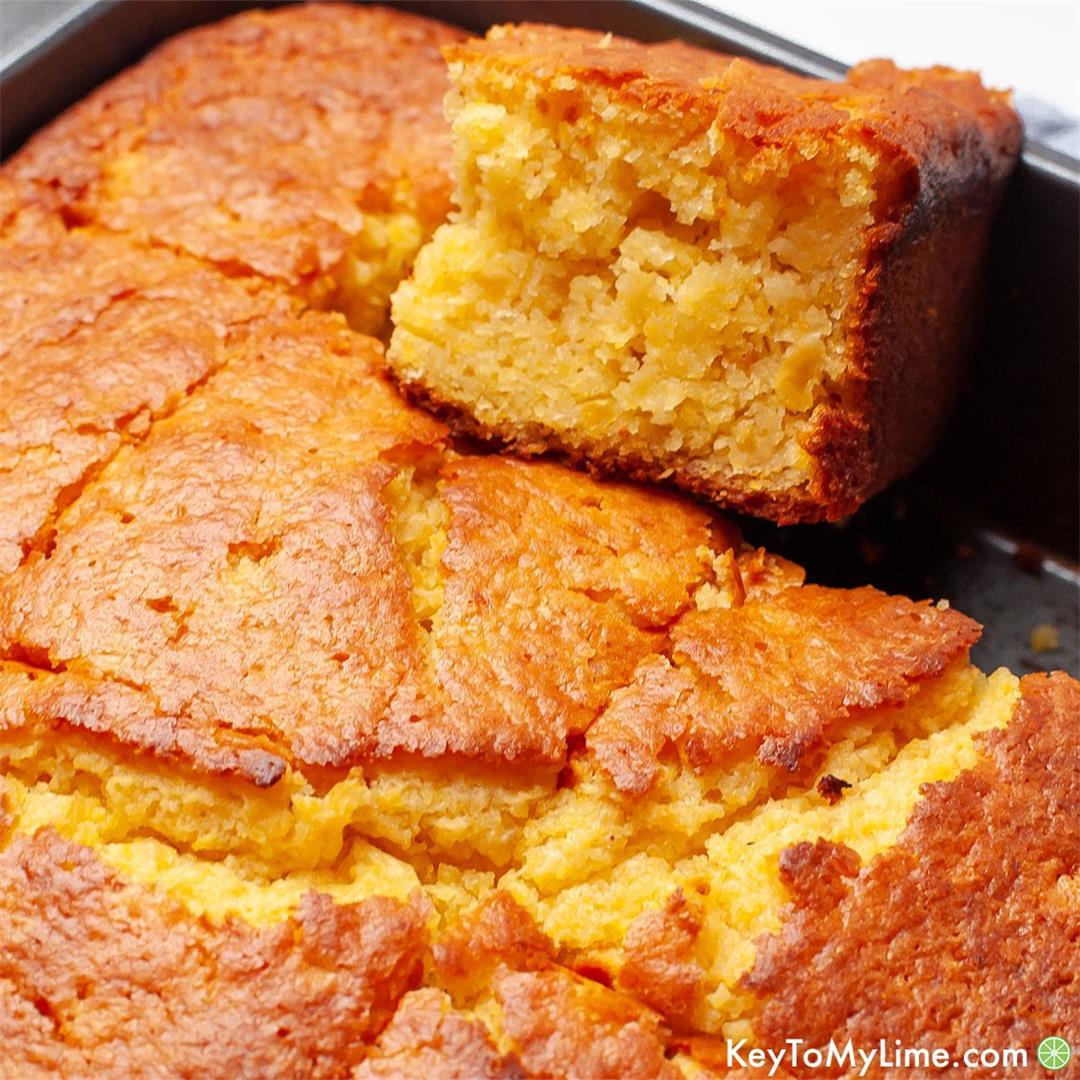 Jiffy Cornbread With Creamed Corn {BEST Creamed Corn Cornbread}